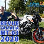 Vidéo: YAMAHA MT-03 2020 – Master of…
